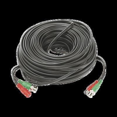 Cable Coaxial Armado con Conector BNC (Video) y Alimentación / Longitud de 40 mts / Optimizado para Cámaras 4K / Uso en Interior
