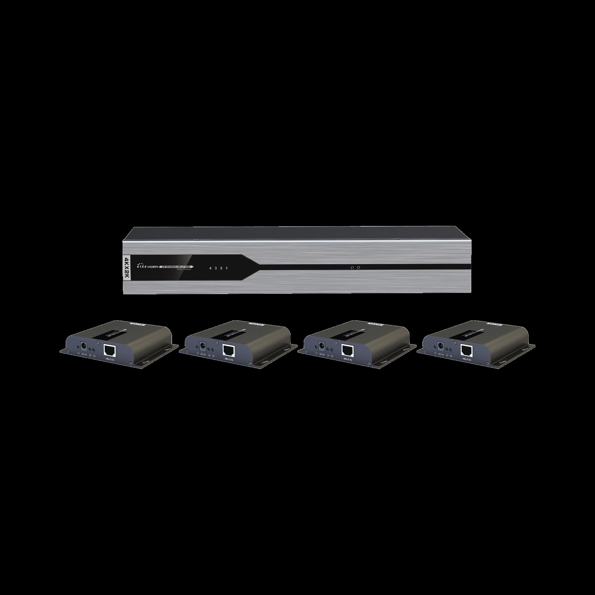 Kit de 1 entrada x 4 salidas 4K x 2K HDMI por cable Cat 6 a 120 metros