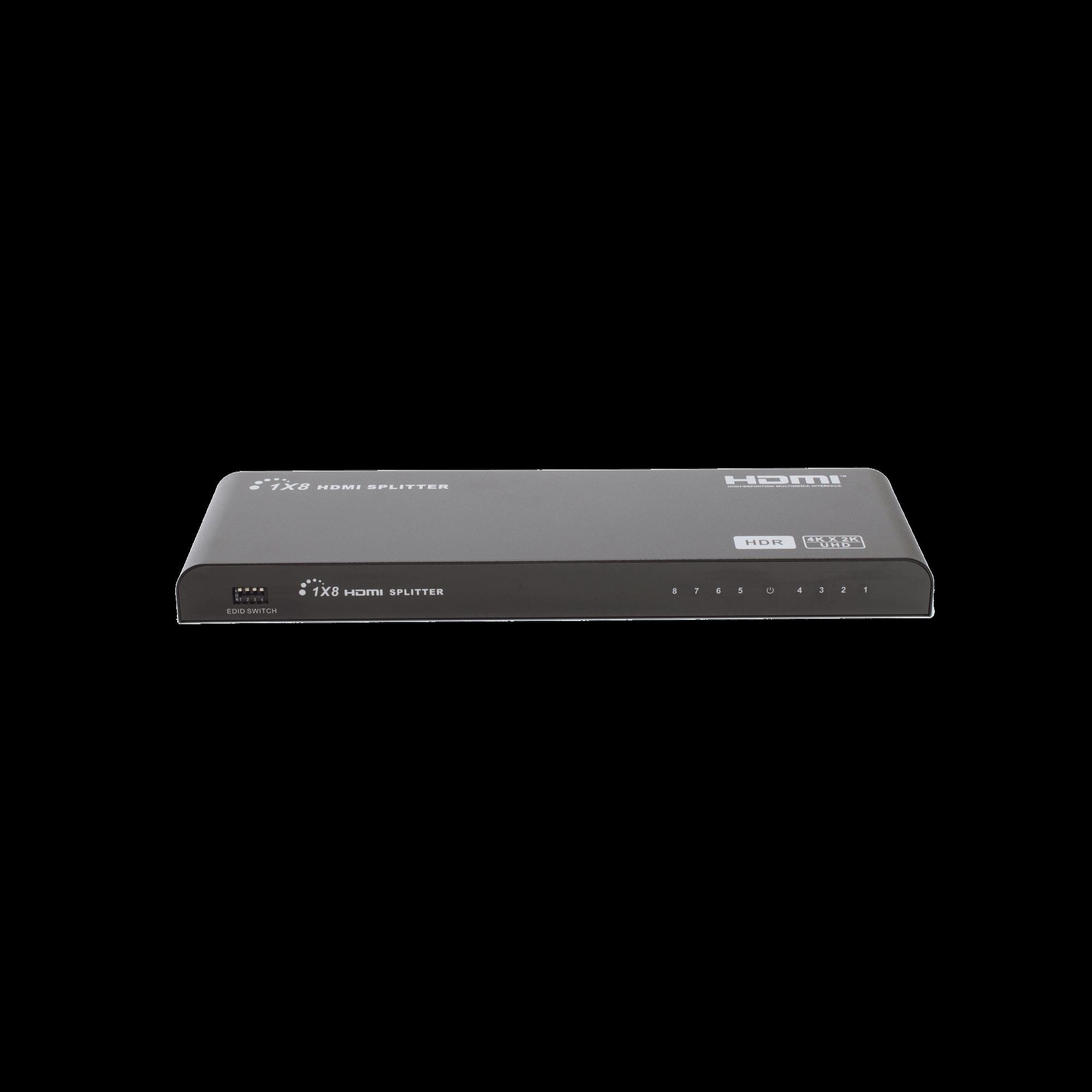 Divisor HDMI de 1 entrada a 8 salidas 4K x 2K @60Hz & HDR / Compatible con HDMI2.0,HDCP2.0 / Soporta 10 metros en la entrada y 10 metros en la salida