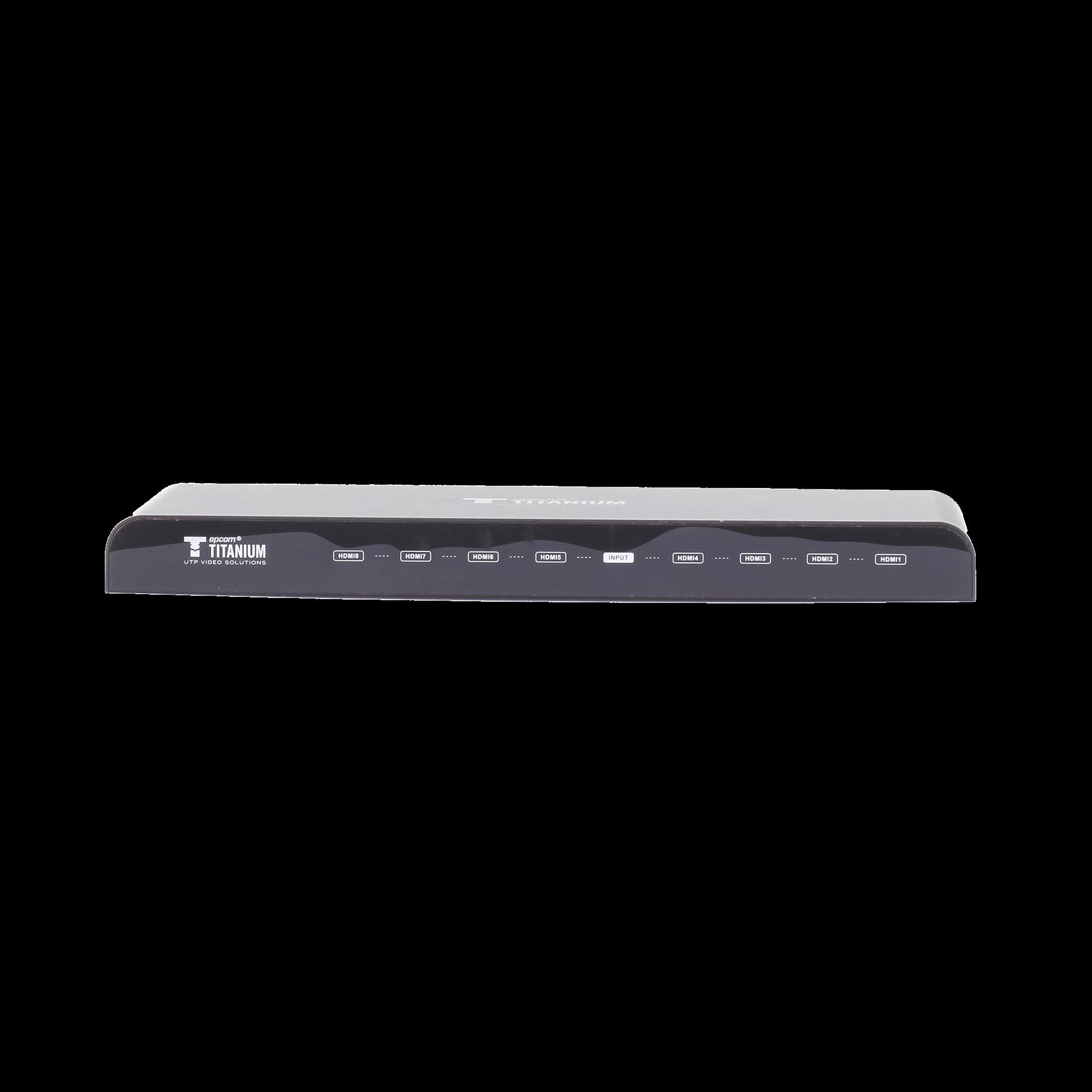 Divisor HDMI de 1 entrada a 8 salidas 4K x 2K @ 30 Hz soporta 3D