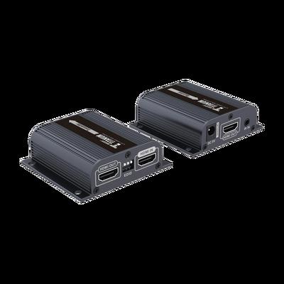 Kit extensor HDMI con loop de salida, para distancia de 50 metros con cable Cat 6 , Solo una fuente de alimentación en el transmisor, con control IR, 1080 p @ 50/60 Hz , compatible con HDCP.
