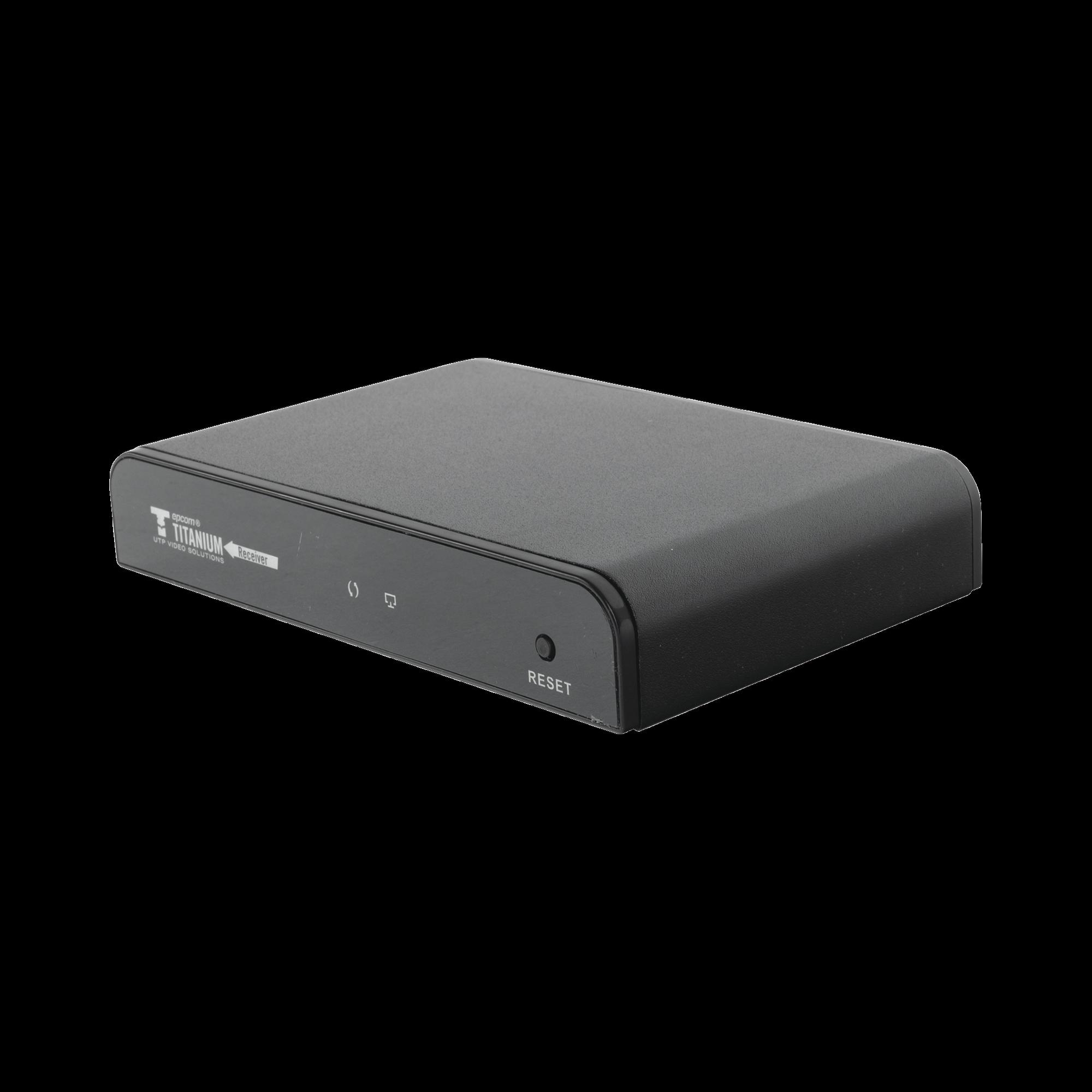 Receptor para uso en Kit TT383PRO hasta 120 metros, Cat 5e/6, control IR, 1080 p@50/60 Hz. con protocolo HDbitT
