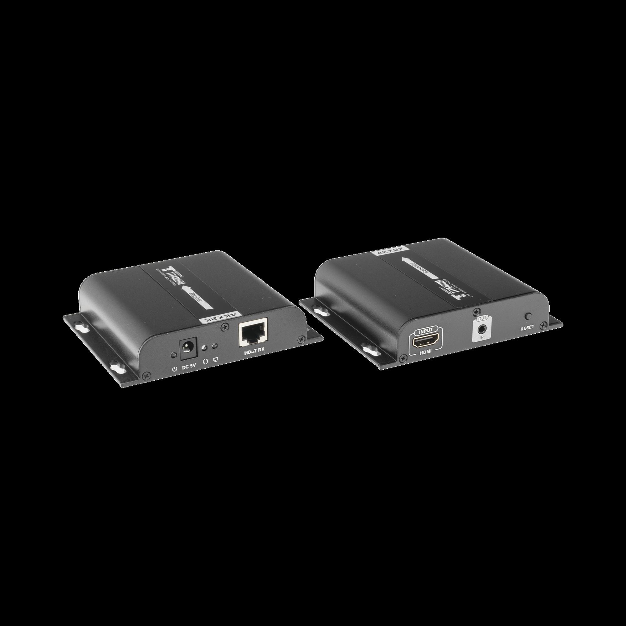 4K x 2K extensor HDMI por cable CAT5 / 5E / 6 a 120 metros, protocolo HDbitT, compatible con HDCP.