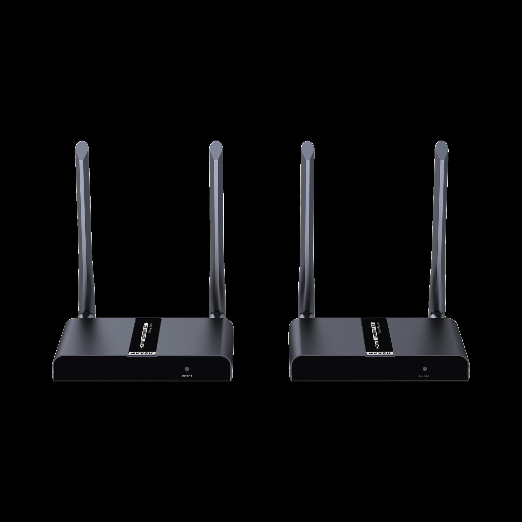 Kit extensor inalámbrico HDMI de 50 metros, protocolo HDbitT, control IR, 4K x 2K @ 30 Hz, compatible con HDCP.