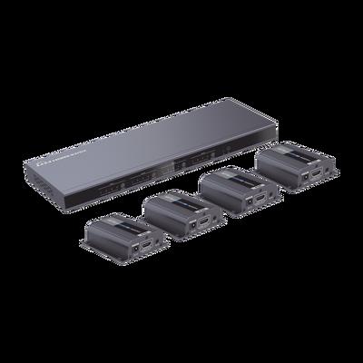 Distribuidor de video matricial 4X4 en resolución 1080p hasta 40m, incluye 4 receptores TT372EDIDRX
