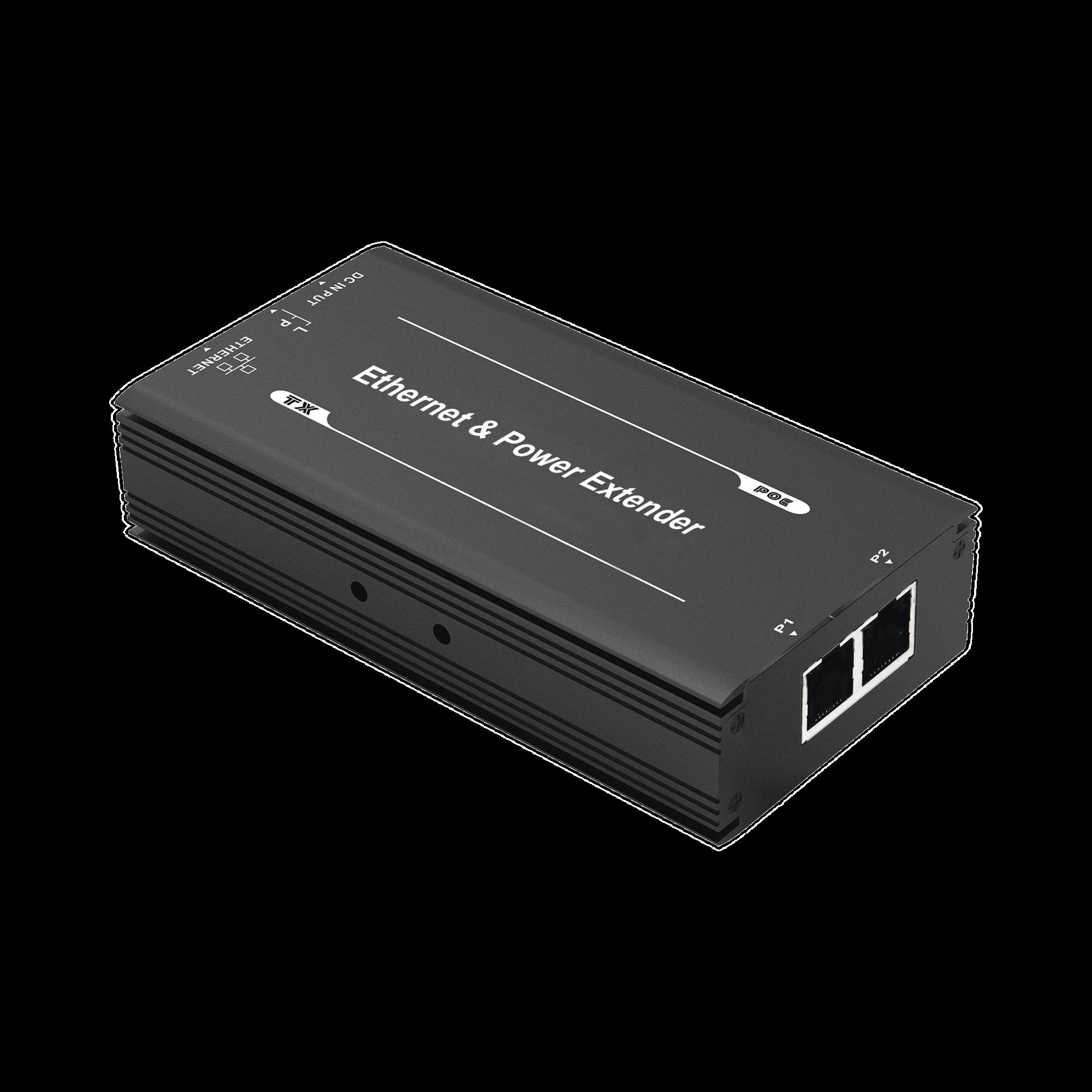 (POE 600 METROS) Receptor Extensor PoE 1 puerto para recepción de video y alimentación para cámaras y domos IP hasta 600 metros