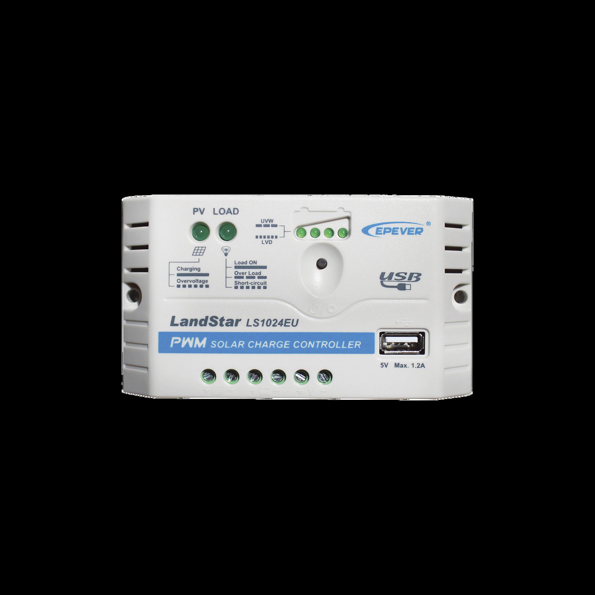 Controlador Solar PWM 12/24 V 10 A, salida USB