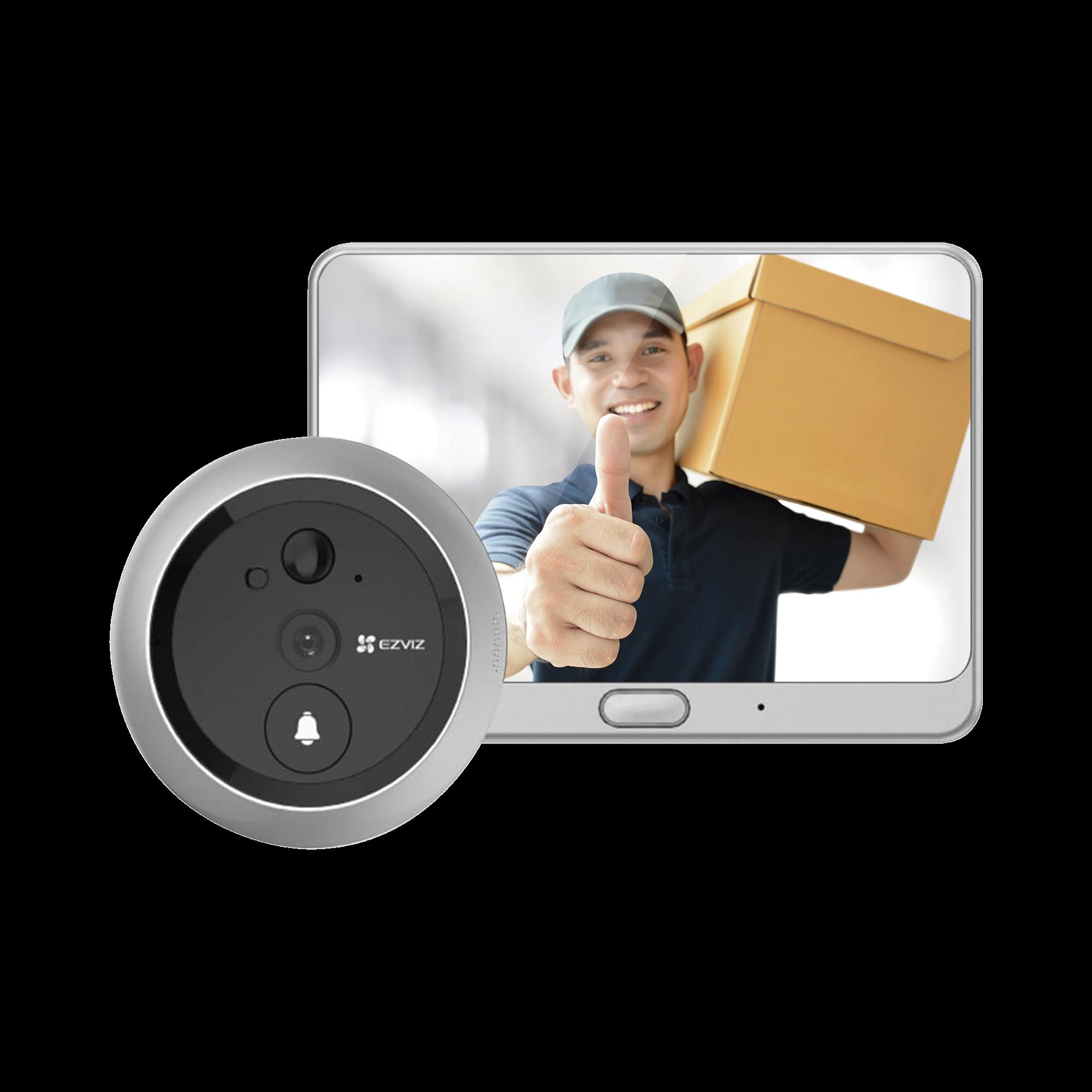 Visor Inteligente Para Puertas (Mirilla) / Inalámbrico / Con Cámara 720P /  Detección de Movimiento / Audio de Dos Vías /  Para el Interior de la Puerta /  Micro SD