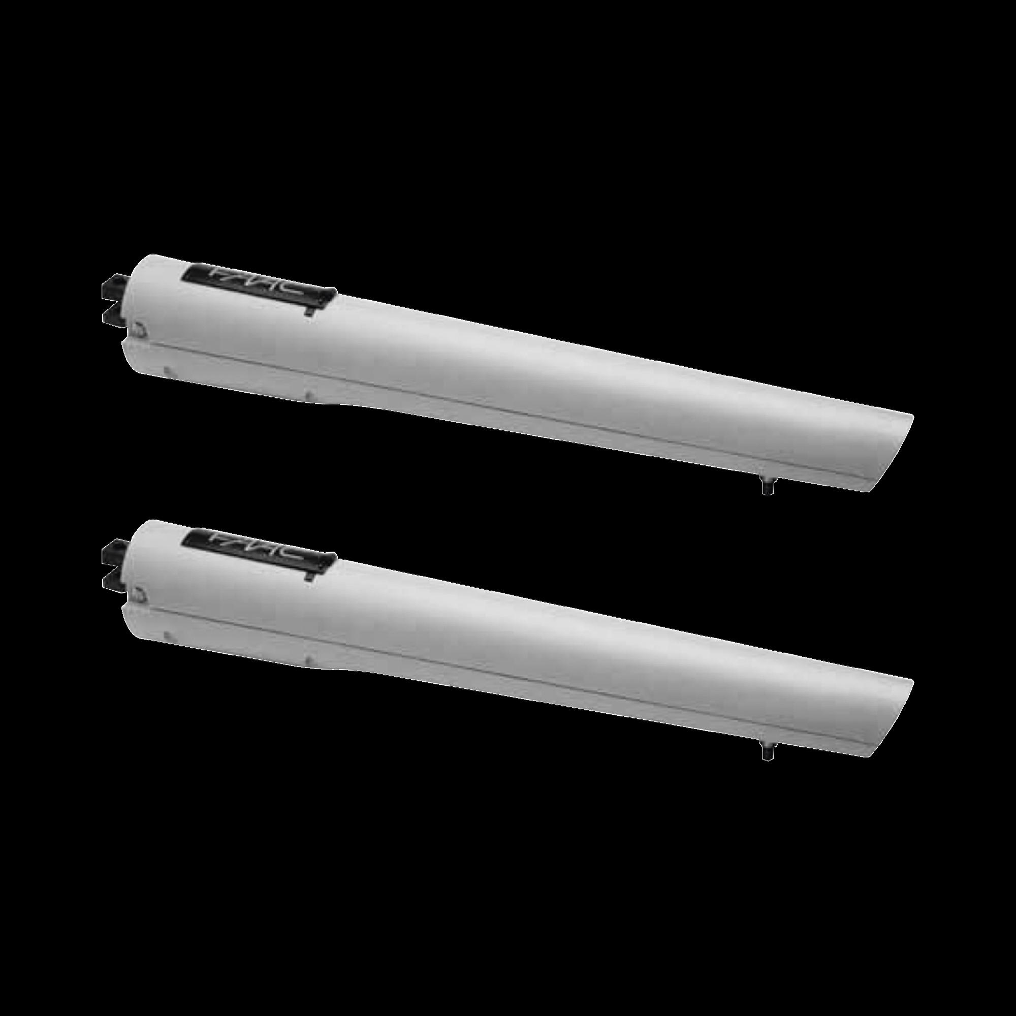 Kit de Operadores FAAC S418 para Puertas Abatibles de hasta 2.7m y 300Kg / Con Capacidad de Respaldo de Baterías y Desbloqueo Manual