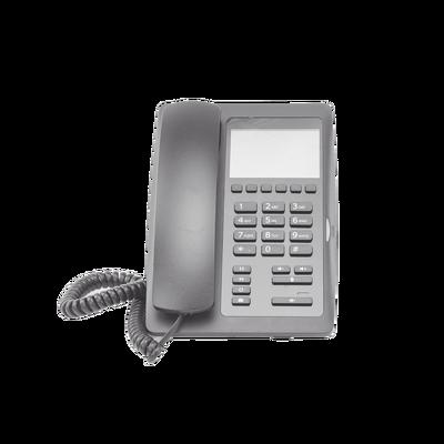 Teléfono IP Hotelero de gama alta, pantalla LCD de 3.5 pulgadas a color, 6 teclas programables para servicio rápido (Hotline), PoE