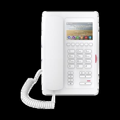 Teléfono para Hotelería, profesional de gama alta con pantalla LCD de 3.5 pulgadas a color, 6 teclas programables para servicio rápido (Hotline) PoE