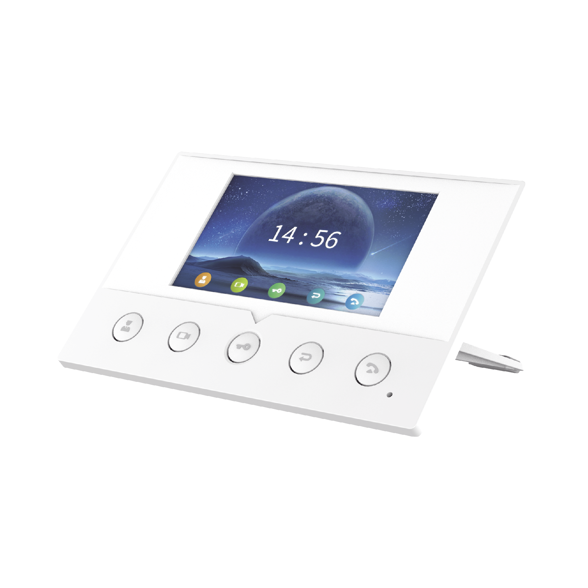 Monitor IP/SIP para interior, Wi-Fi, pantalla a color de 4.3, audio de 2 vías, PoE, 8 interfaces de entrada de alarma.