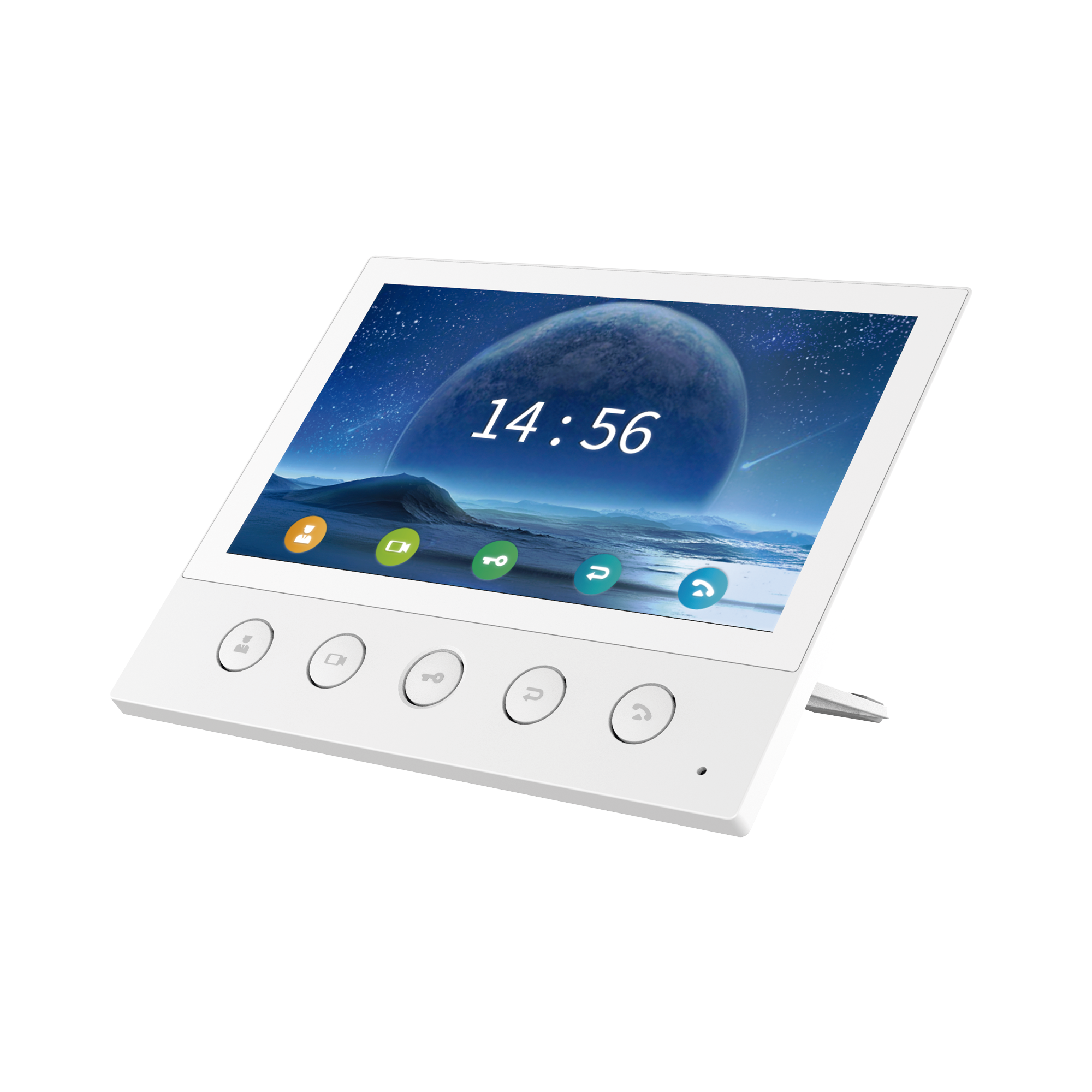 Monitor IP/SIP para interior, Wi-Fi, pantalla táctil de 7, audio de 2 vías, PoE, 8 interfaces de entrada de alarma.