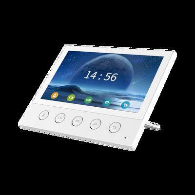 "Monitor IP/SIP para interior, Wi-Fi, pantalla táctil de 7"", audio de 2 vías, PoE, 8 interfaces de entrada de alarma."