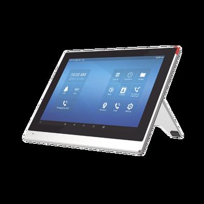 "Monitor IP/SIP para interior con Android, Wi-Fi, pantalla táctil de 10.1"", audio de 2 vías, PoE, 8 interfaces de entrada de alarma."