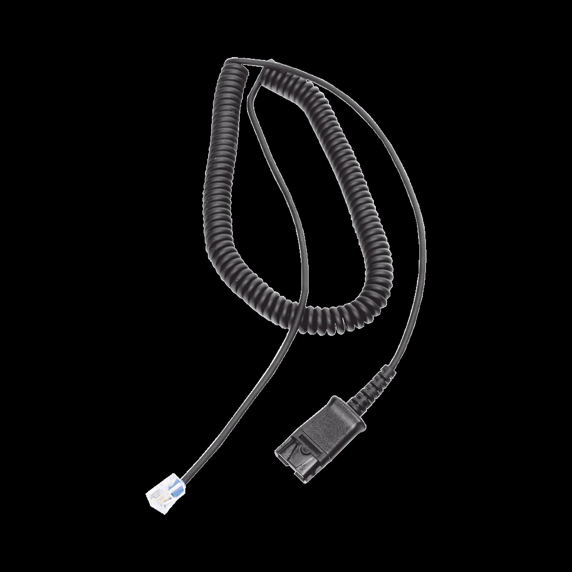 Cable adaptador para diademas modelo HT101, HT201 y HT202 para compatibilidad con teléfonos Grandstream, análogos, digitales, etc.