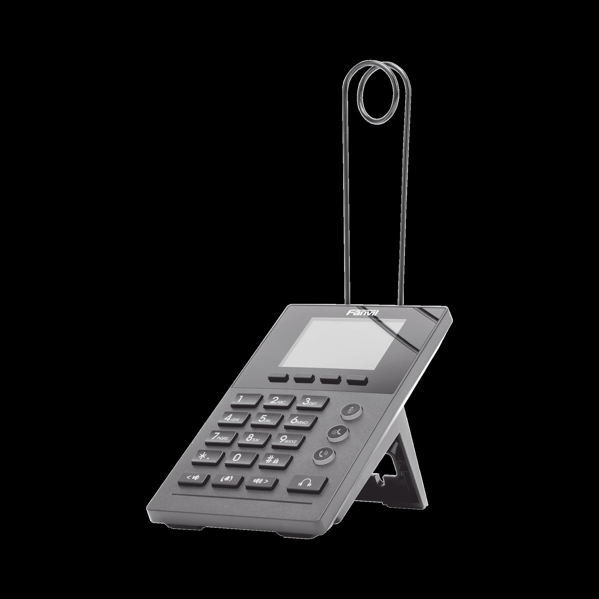 Teléfono IP para Call Center para 2 lineas SIP con soporte para diadema, pantalla LCD de 2.8 pulgadas a color, PoE