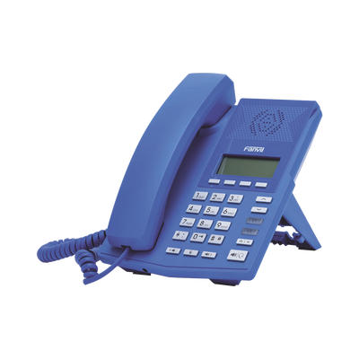 Teléfono IP soho color azul para 2 lineas SIP voz HD y conferencia de 3 vías, PoE