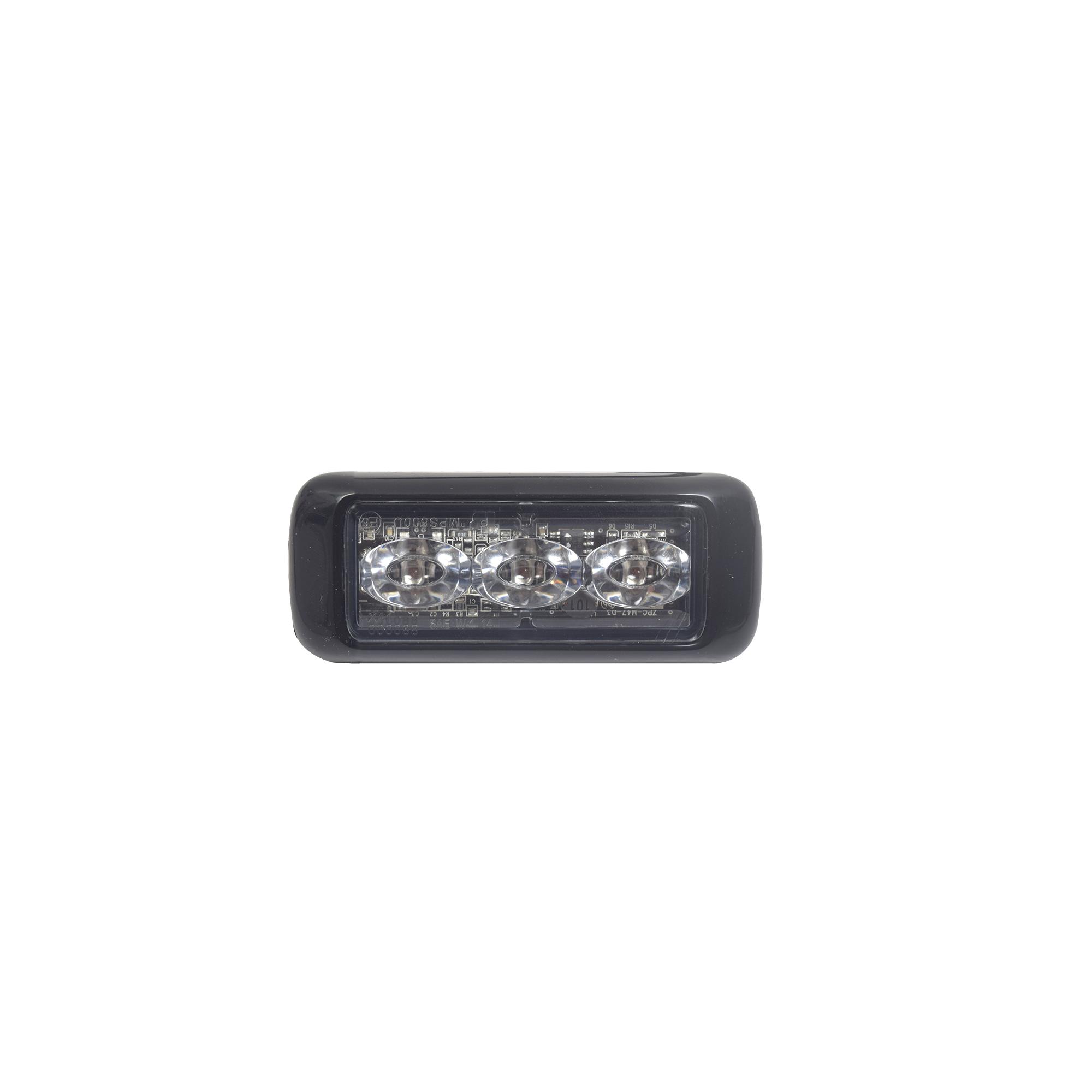 Luz auxiliar MicroPulse Ultra, 3 LEDs ambar