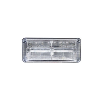 Luces perimetrales de emergencia QuadraFlare® lente color claro, LED color rojo