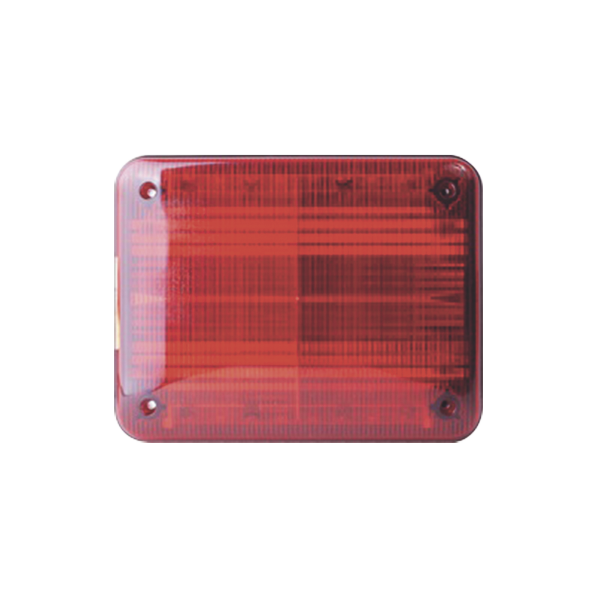 Luz de advertencia Quadraflare LED, Flasher Integrado y Mica de color Rojo