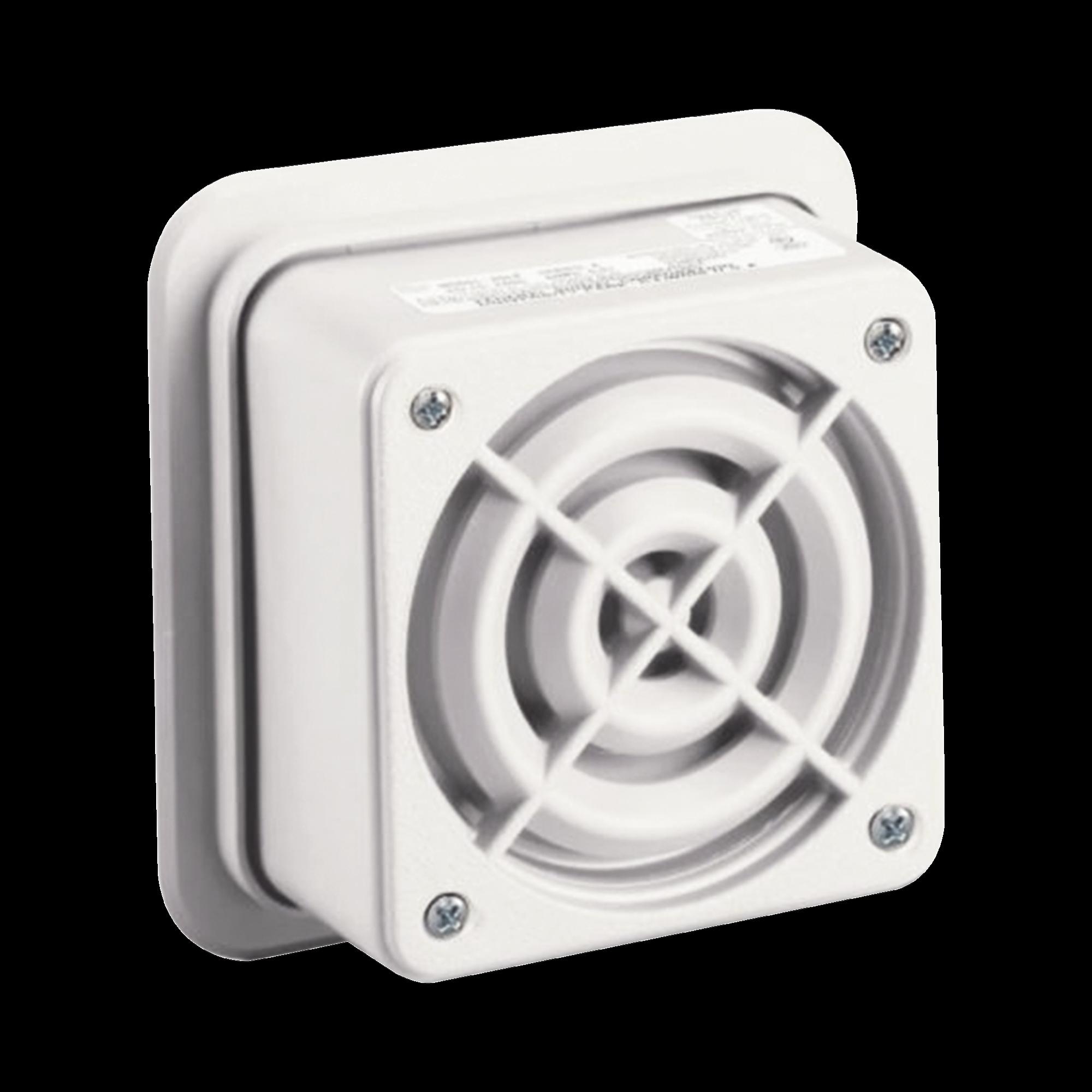 Altavoz de megafonia AudioMaster, 2 W, 25 Vrms, altavoz reentrante, UL Fire, Beige