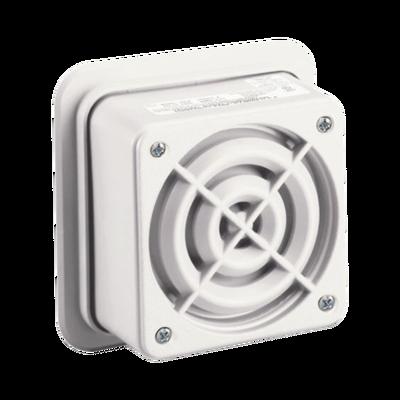 Altavoz de megafonía AudioMaster, 2 W, 25 Vrms, altavoz reentrante, UL Fire, Beige