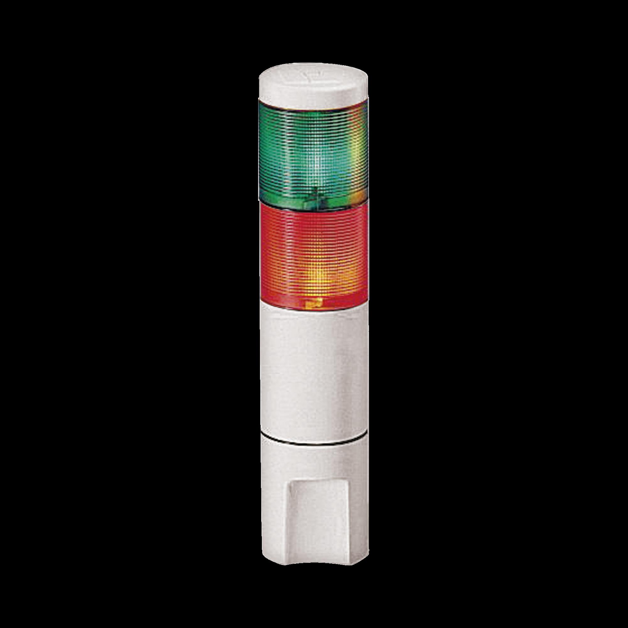 Indicador de estado LED MicroStat, 2 niveles, UL y cUL, 120Vca, verde, rojo