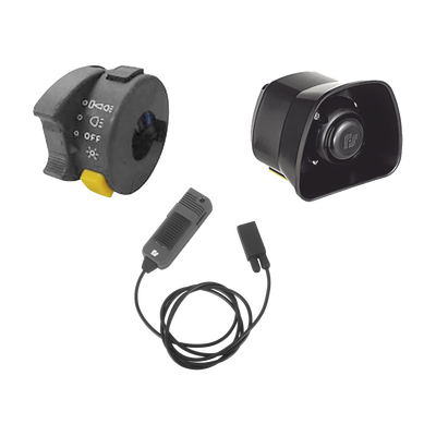 Kit Para Motocicleta FEDERAL SIGNAL , Sirena/Bocina de 30 Watt, Controlador y Micrófono
