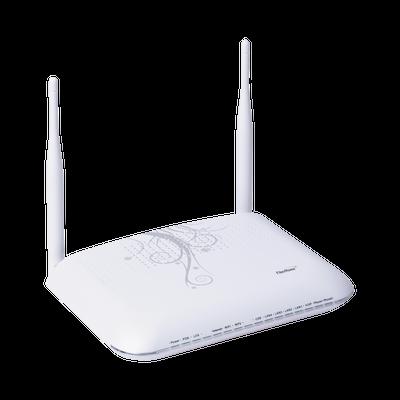 ONU para Aplicaciones FTTH/GPON, WiFi 2.4 GHz, MIMO 2X2, 4 Puertos Gigabit Ethernet, conector SC/UPC