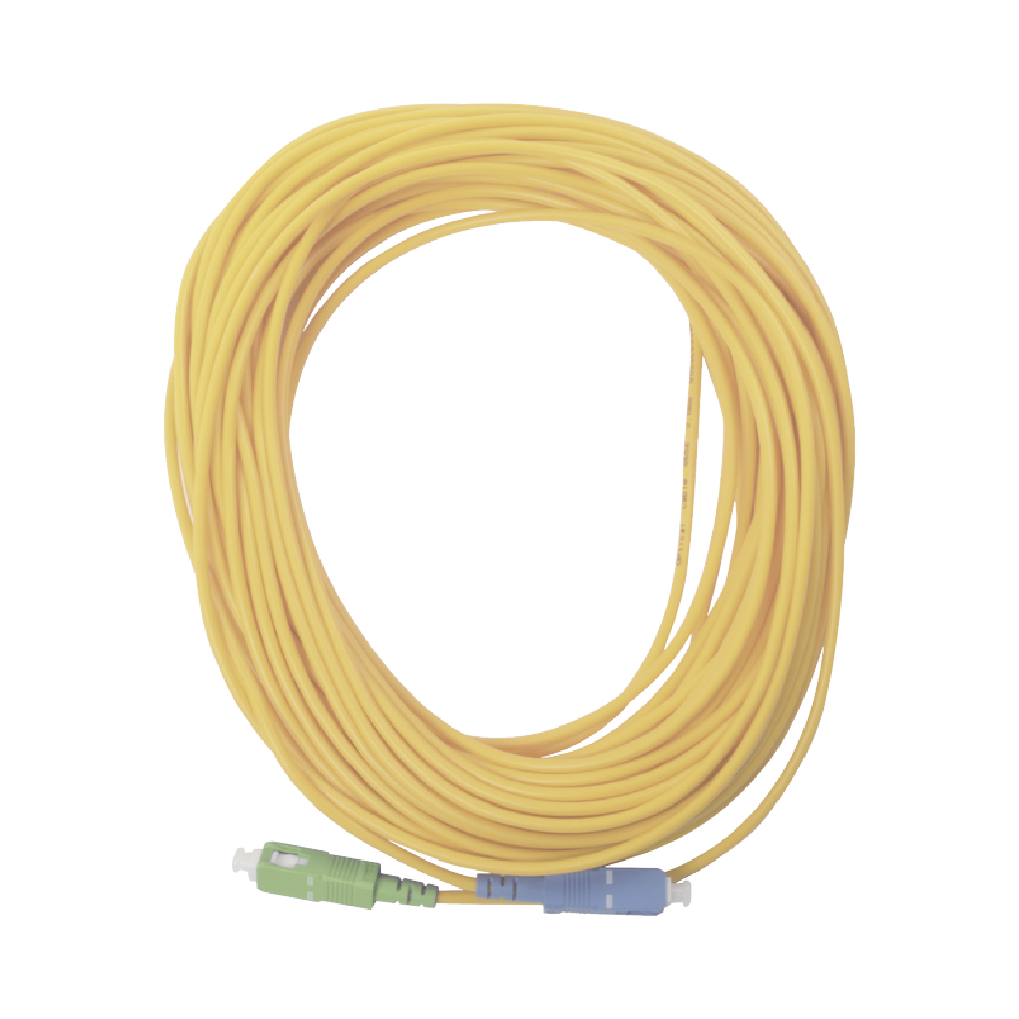 Jumper de Fibra óptica Simplex, Monomodo, con Conectores SC/UPC-SC/APC, de 20 Metros