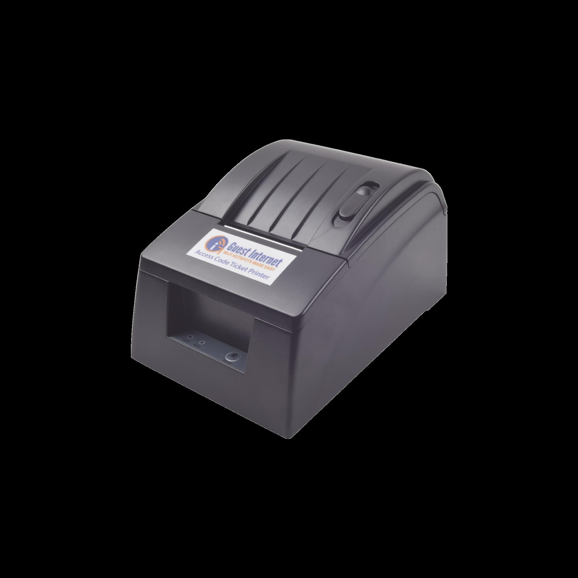 Impresora Térmica de Tickets para Códigos de Acceso a Internet (Hotspot), diseñado para dispositivos Guest Internet.