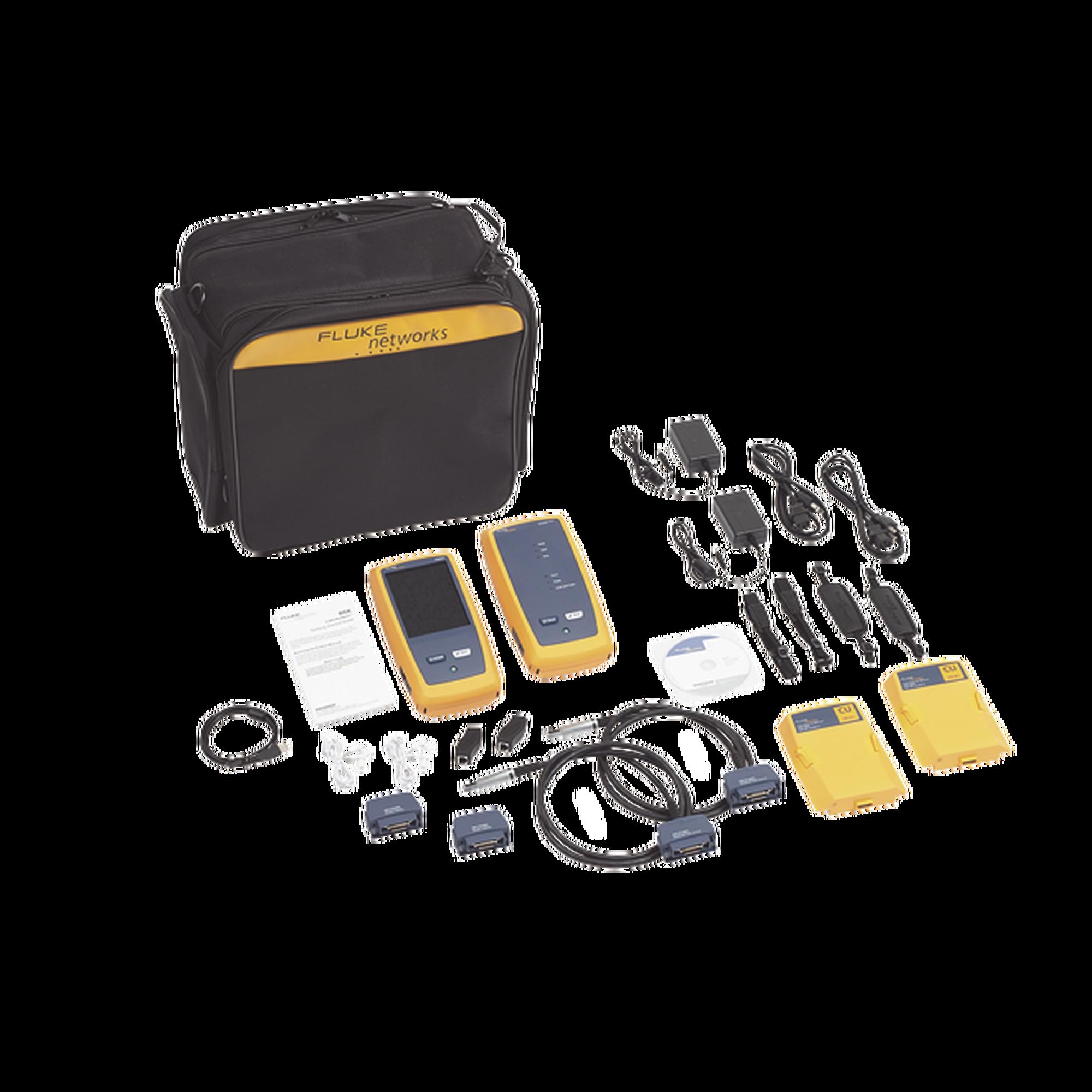 Certificador DSX-5000 para Cable de Cobre Cat5e, Cat6 y Cat6A, Precisión de Nivel V (1 GHz), Con WiFi Integrado y Pantalla LCD de 5.7 in, Versión Internacional