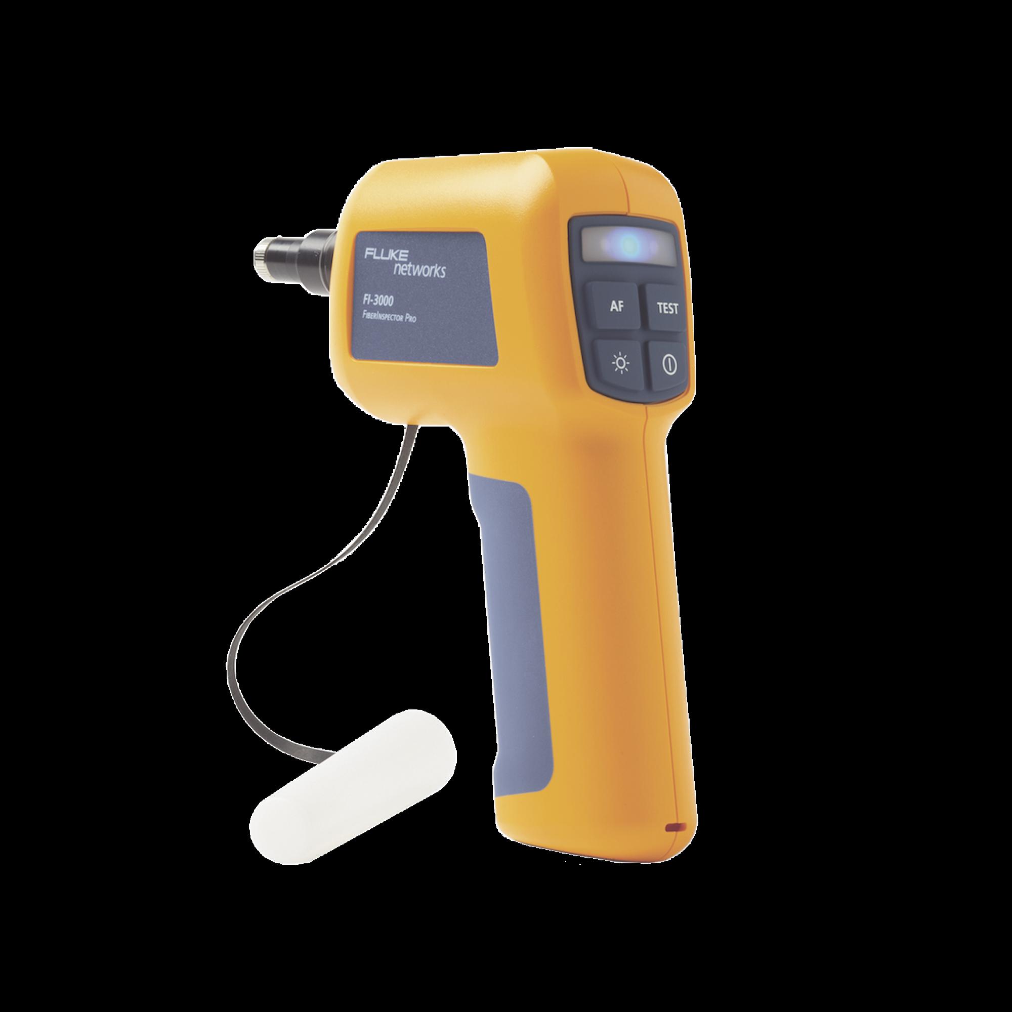 Cámara de Inspección de Fibra óptica FiberInspector?, con Sonda Para Evaluar Terminaciones de Fibra óptica, Compatible con Fibras Individuales o Conectores MPO