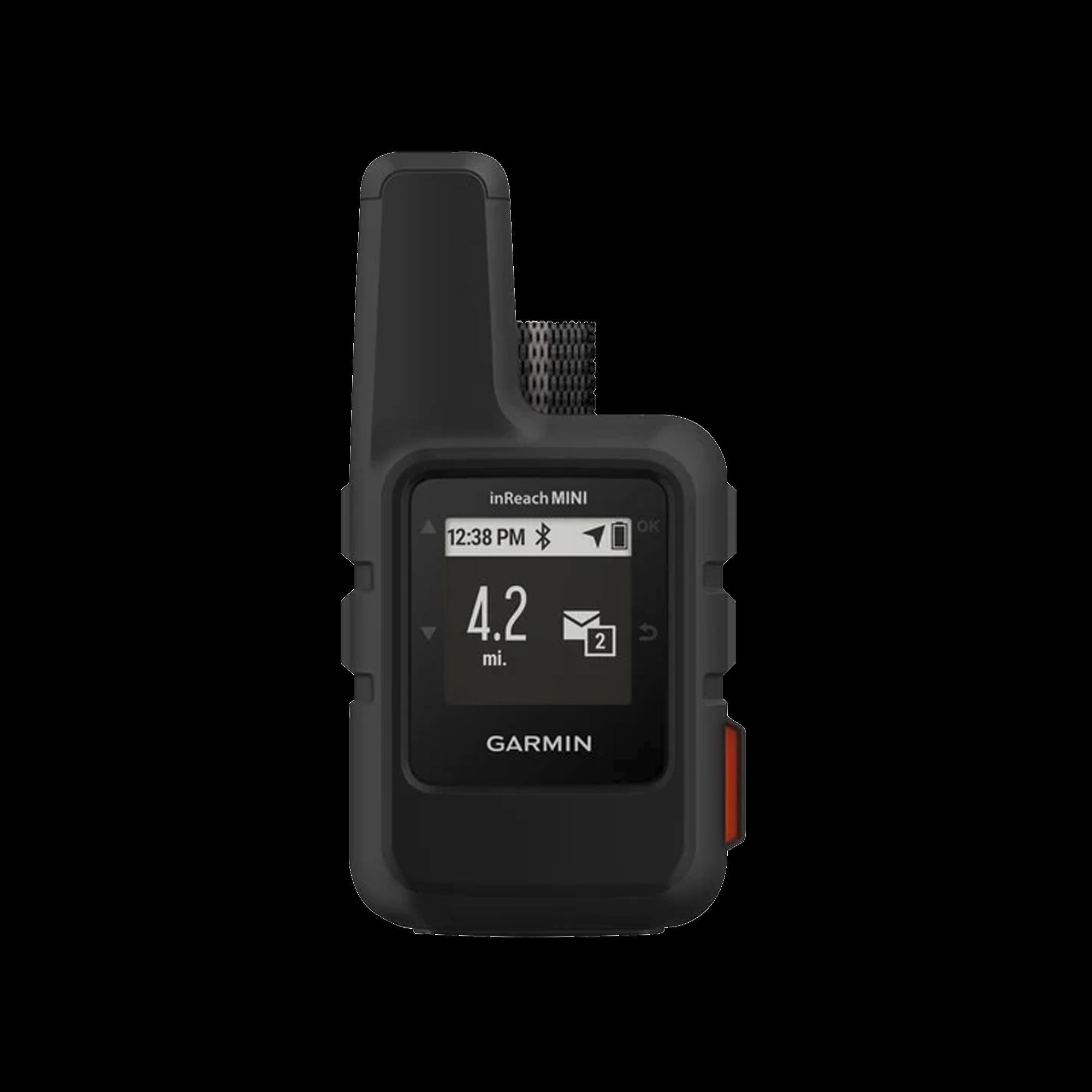 Navegador satelital InReach Mini, Cobertura global mediante la red Iridium, cuenta con botón de emergencia, batería para hasta 50 horas, GPS y brujula.