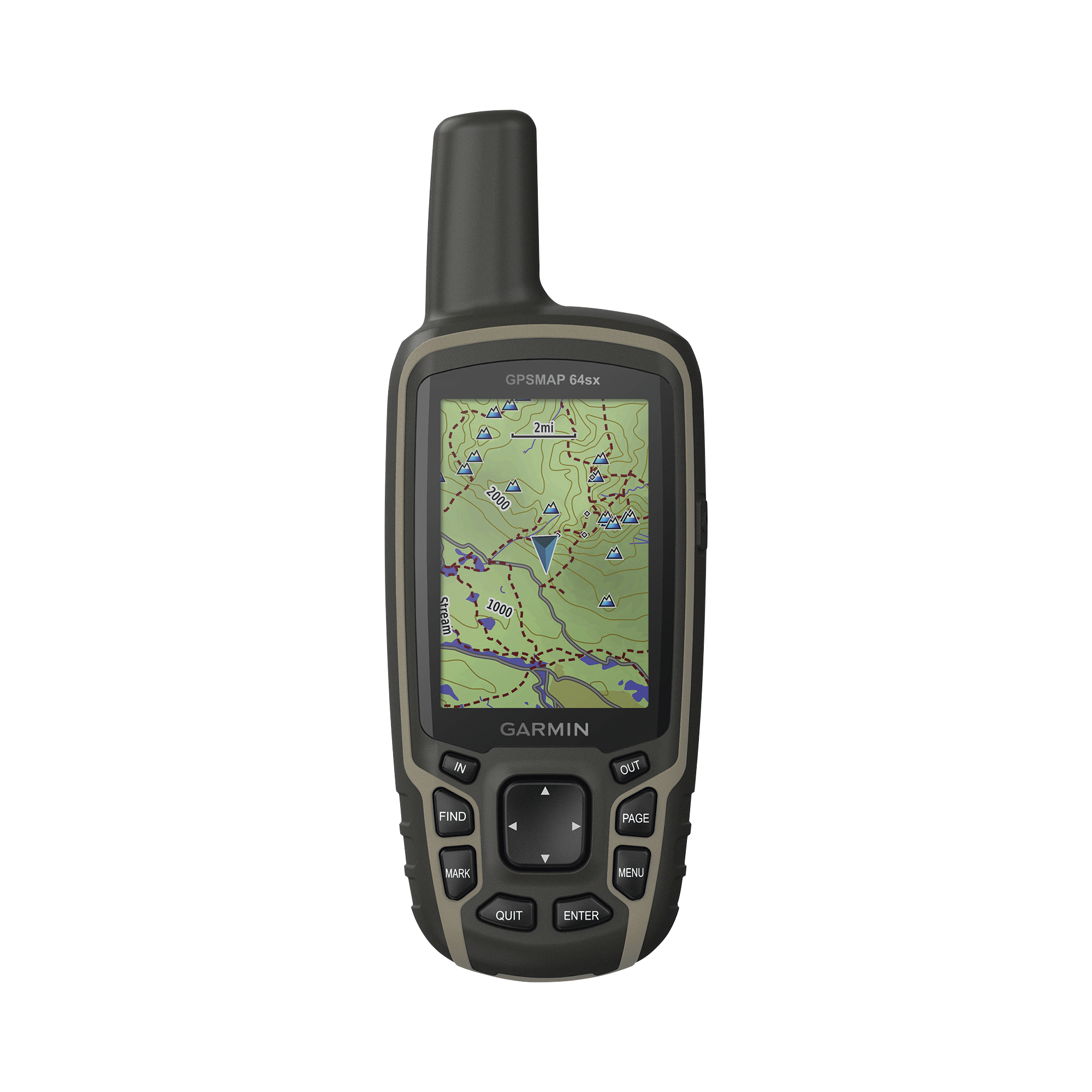 GPSMAP 64SX, GPS portátil con sensores de navegación, altímetro, brújula, calculo de áreas.