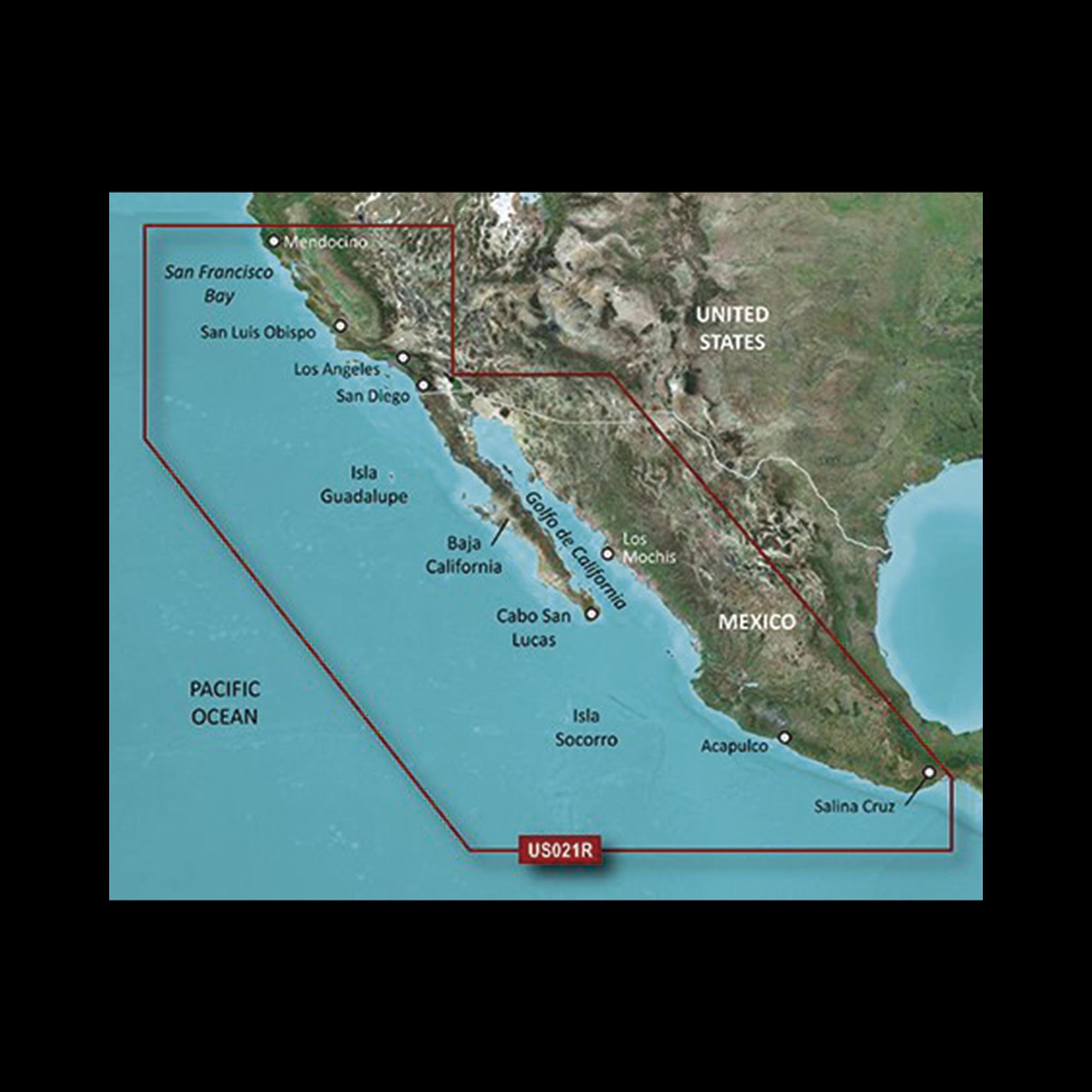 Mapa HXUS021R California - México.
