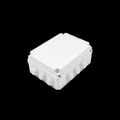 Caja de derivación de PVC Auto-extinguible con 12 entradas, tapa atornillada, 300x220x120 MM, Para Exterior (IP55)