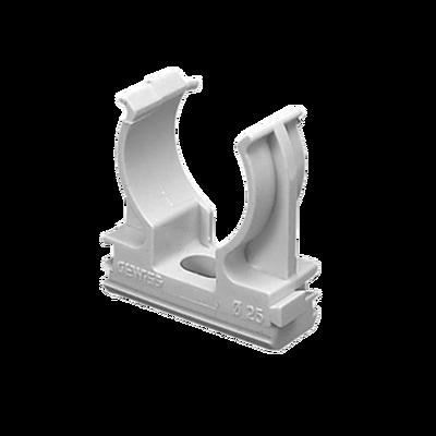 Soporte de presión (Abrazadera), PVC Auto-extinguible, abierto para tubería de 40 mm