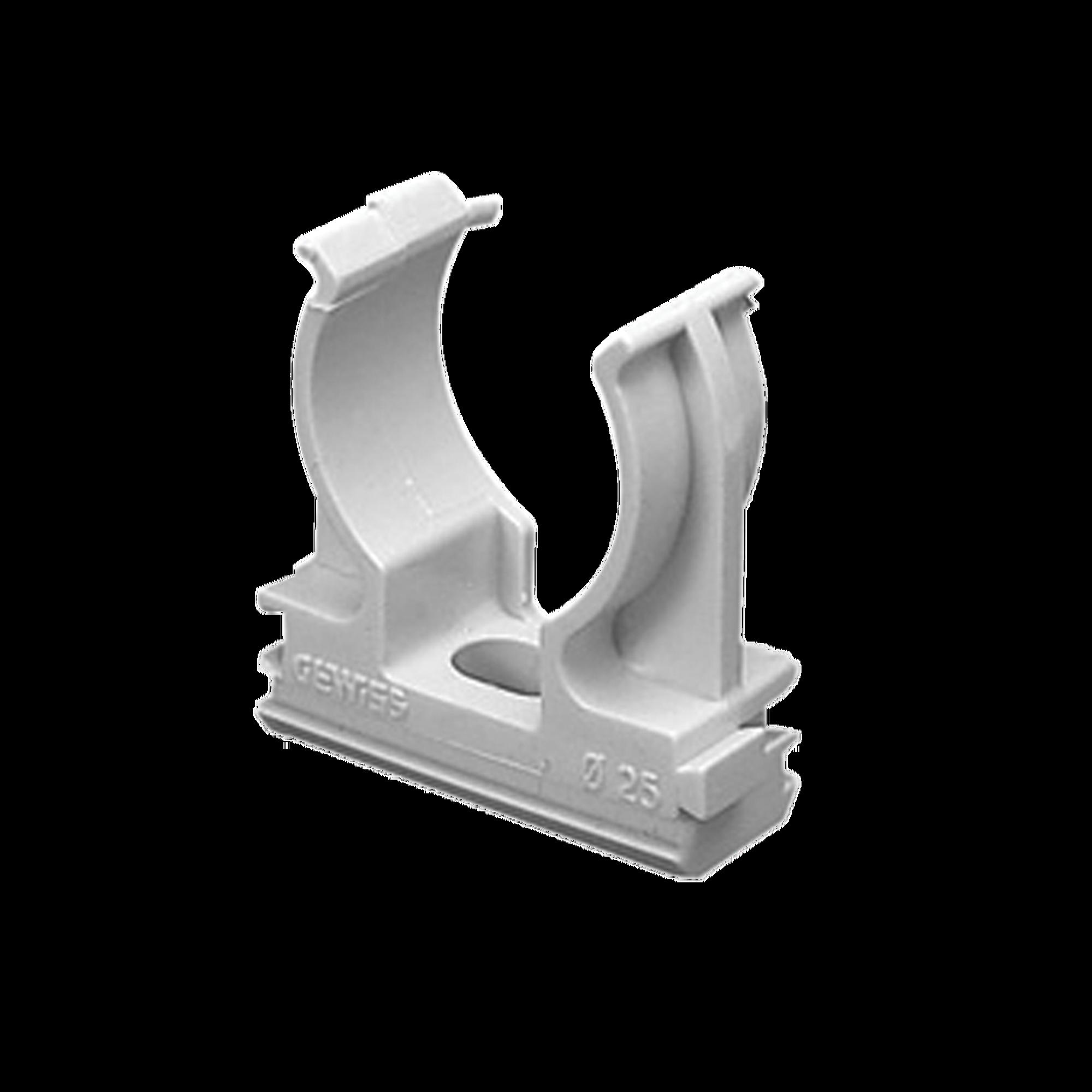 Soporte de presión (Abrazadera), PVC Auto-extinguible, abierto para tubería de 50 mm