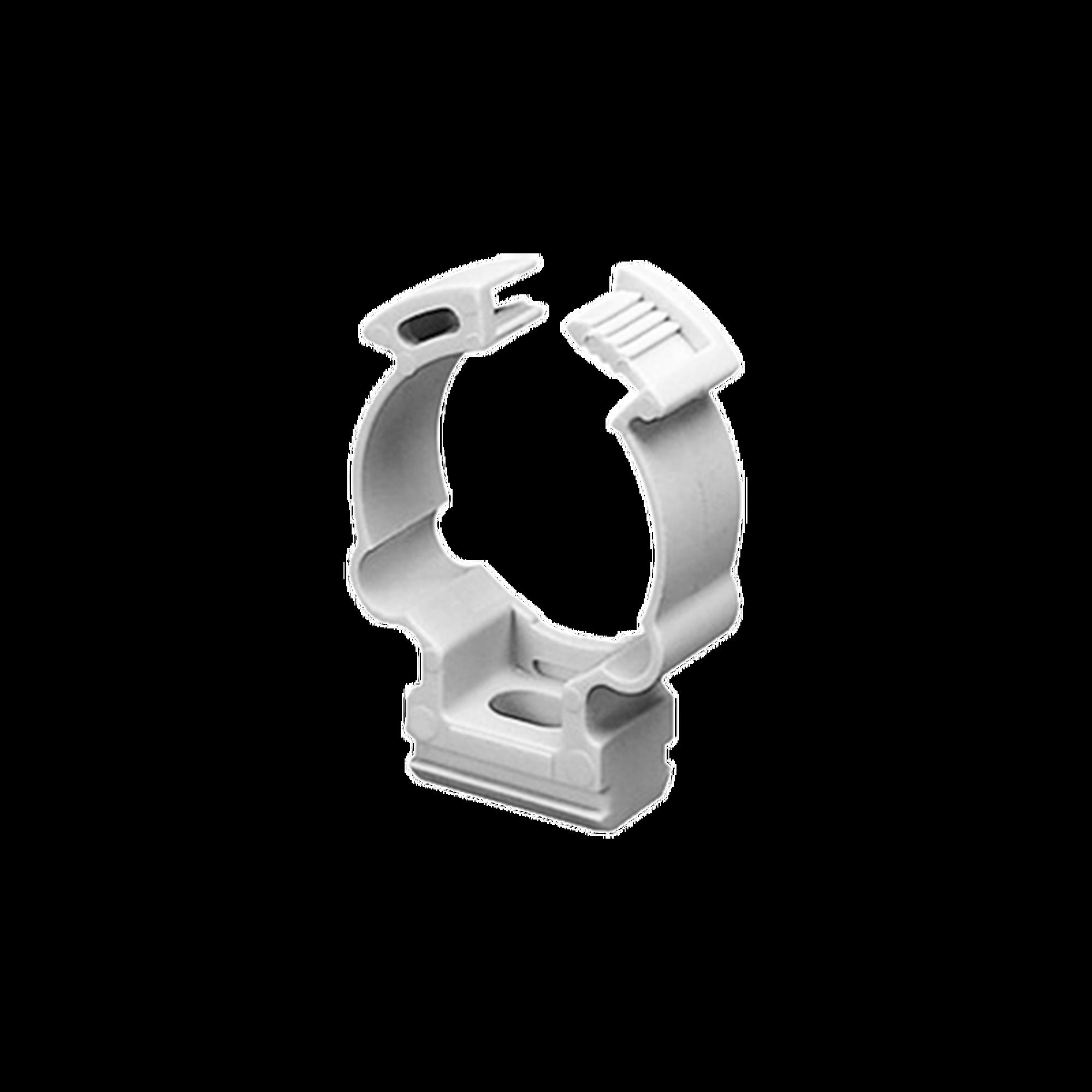 Soporte de collar (Abrazadera), PVC Auto-extinguible, cerrado para tubería de 50 mm