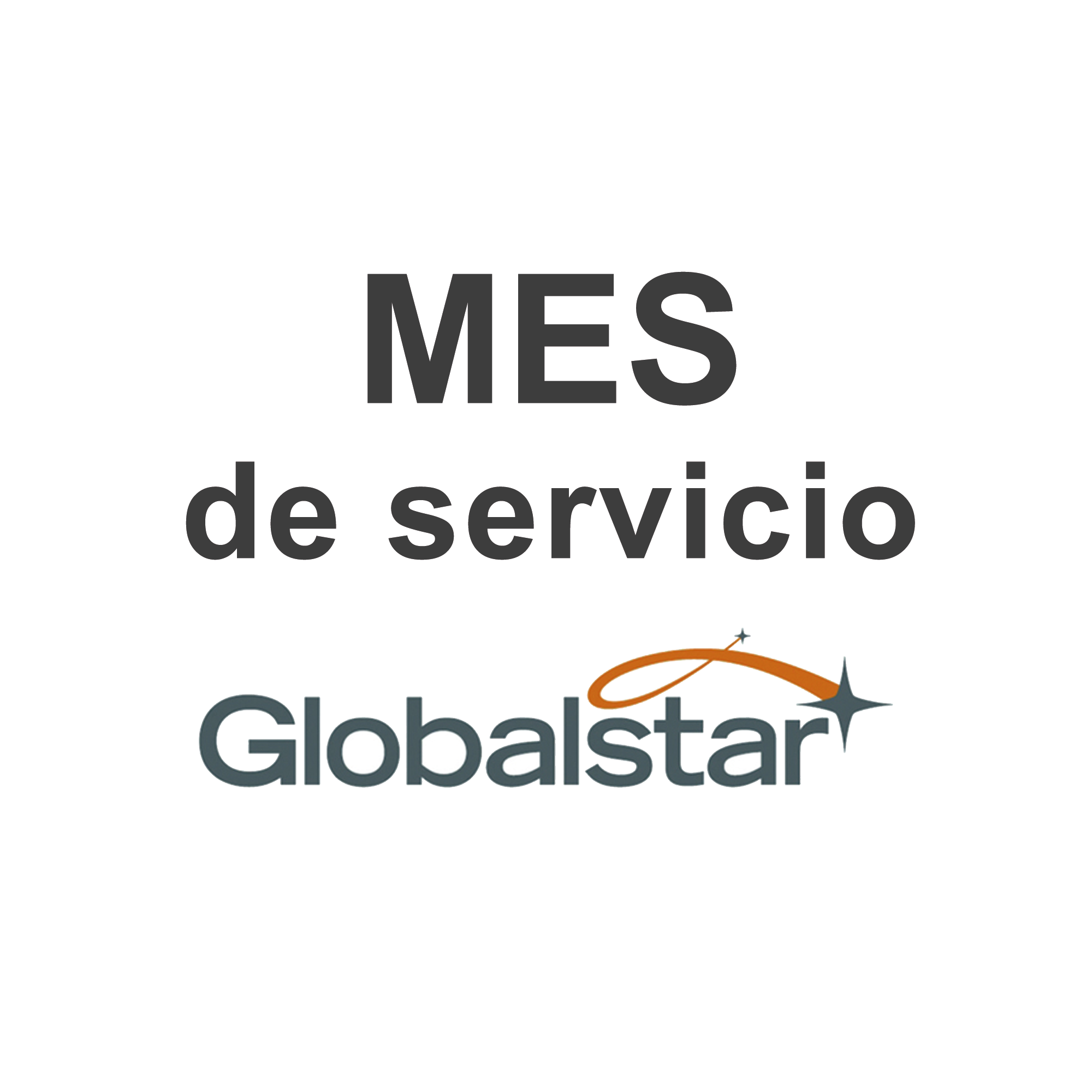 Servicio mensual del uso de satélites GLOBALSTAR