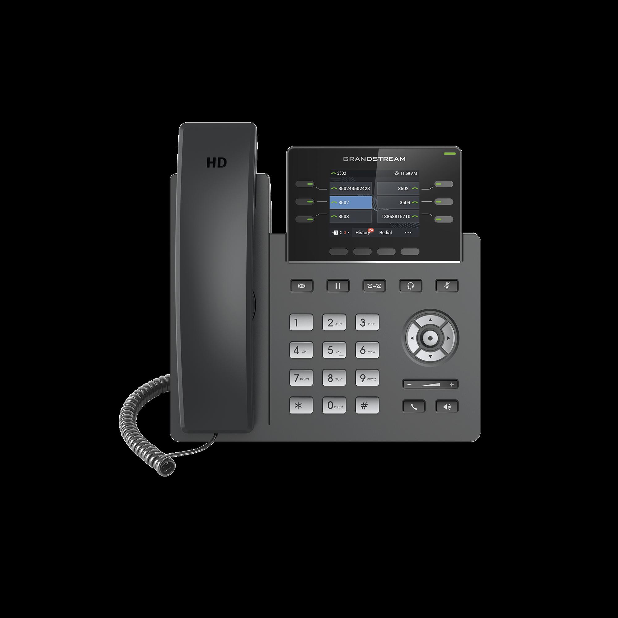 Telefono IP de 3 lineas para alta demanda de Grado Operador