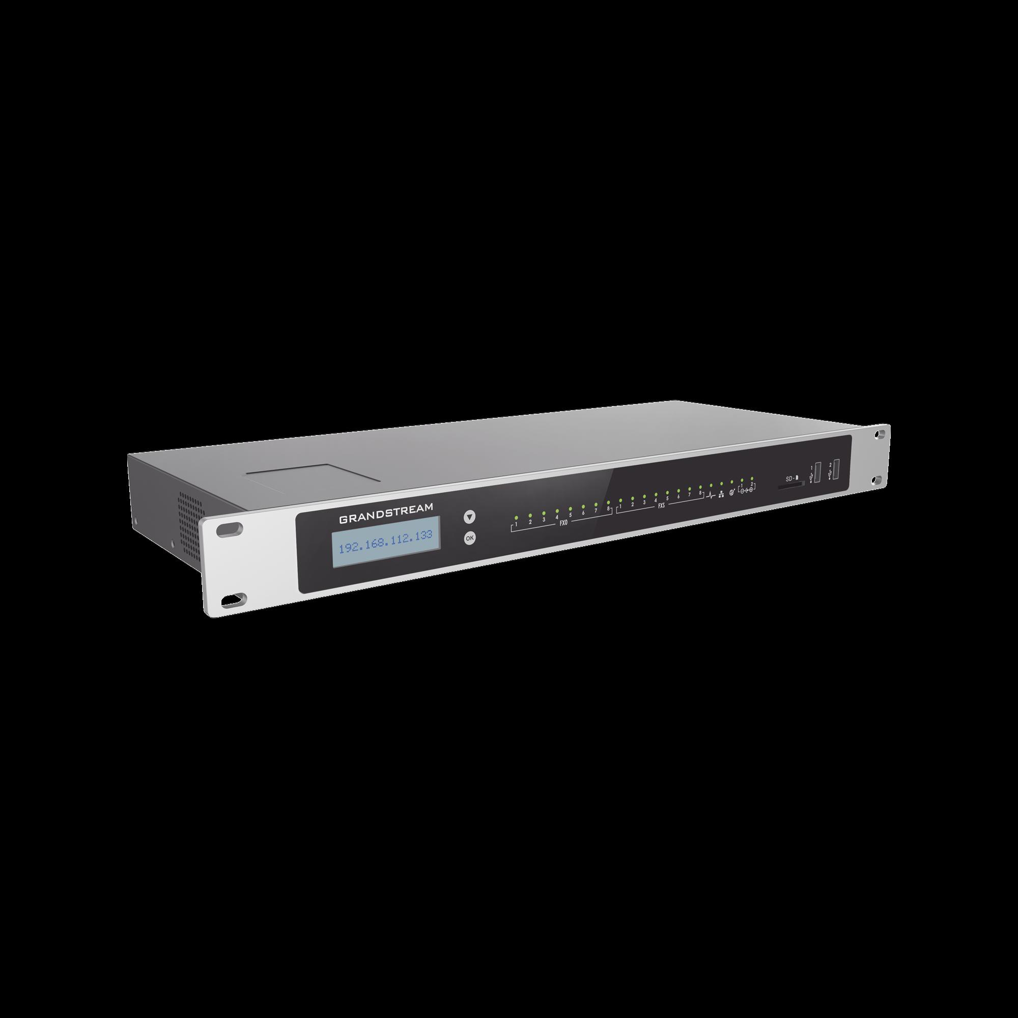 Conmutador IP-PBX 3000 usuarios, 8FXO, 8FXS,  para solución de comunicaciones unificadas y colaboración