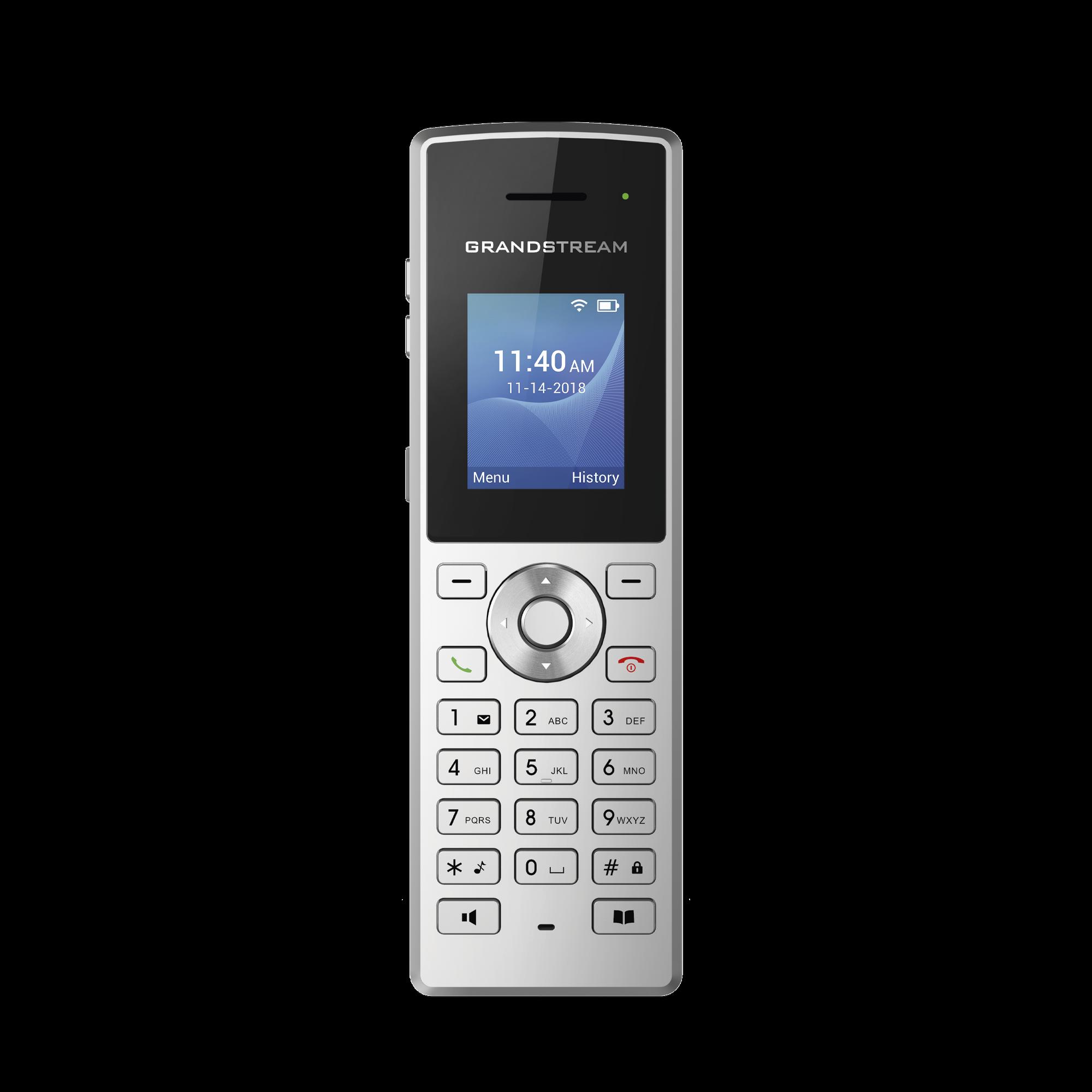 Teléfono IP portátil con conexión a través de  Wi-Fi, 2 líneas, 2 cuentas SIP