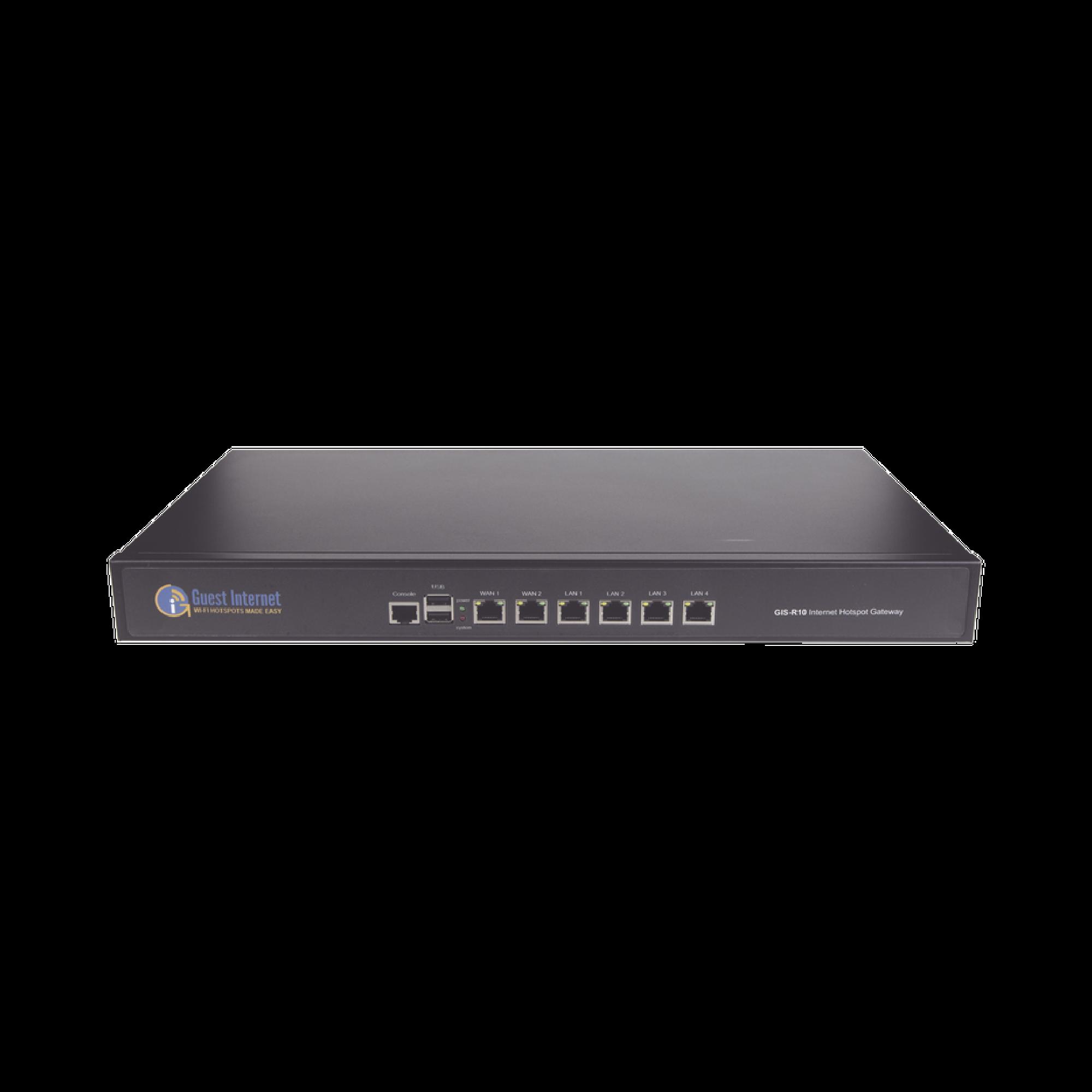 Hotspot para la venta de codigos de Internet, Throughput 400 Mbps, balanceo de carga, configuracion mediante WIZARD, Multi-WAN