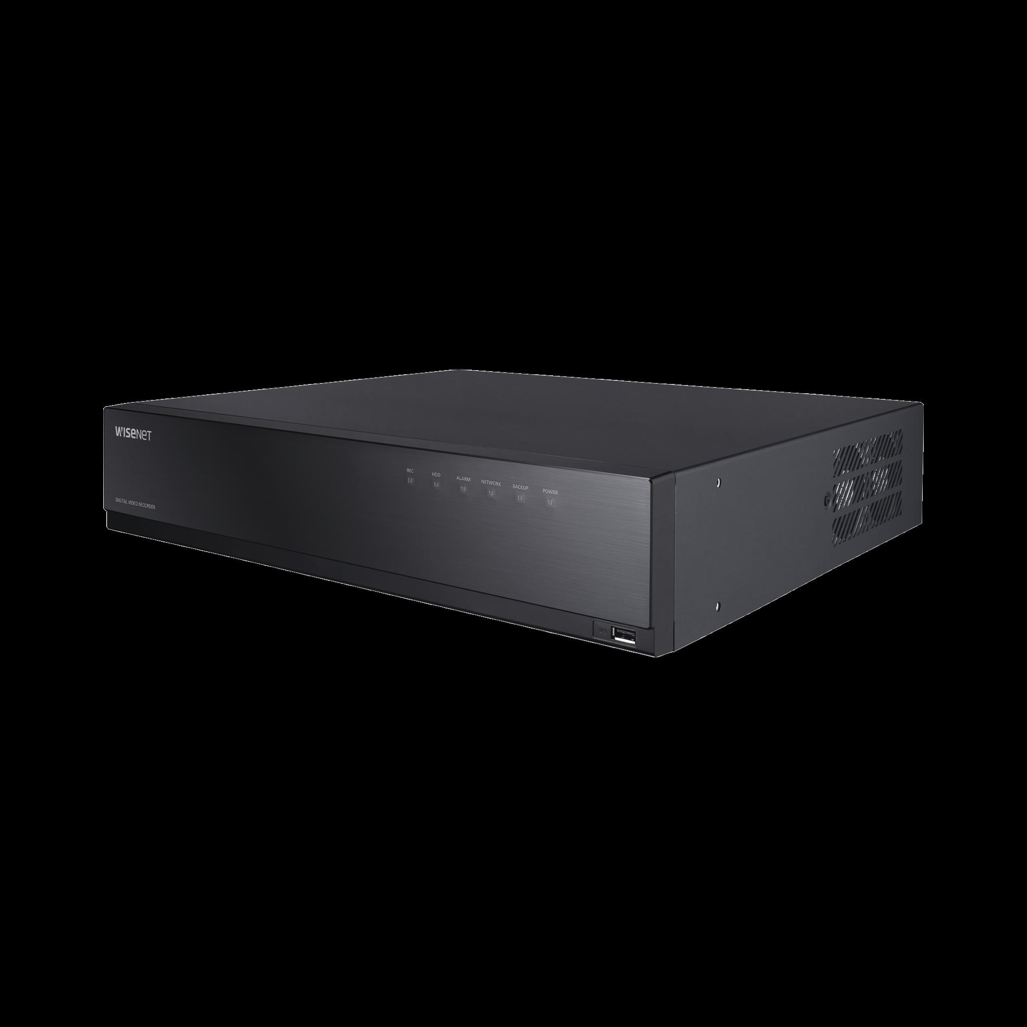 DVR 16 Canales Analogicos + 2 canales IP hasta 8 Megapixel / Soporta 4 Tecnologías (AHD, TVI, CVI, CVBS) / Hasta 8 HDDs / Entradas y Salidas de Audio y Alarma