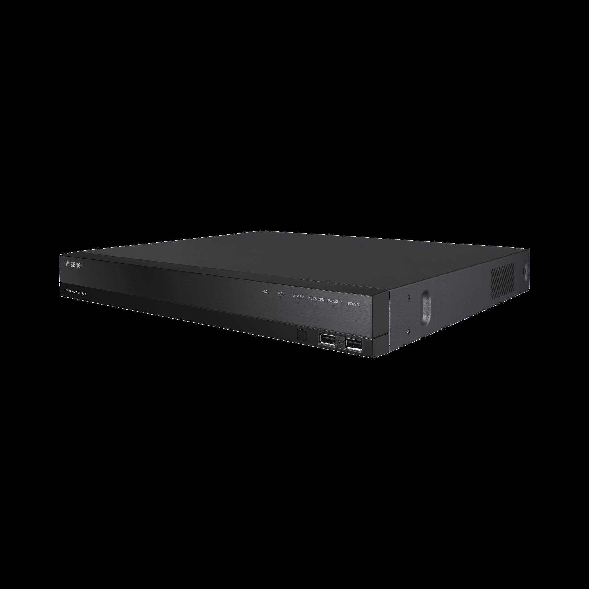 DVR 4 Canales Analógicos + 2 IP / Grabación hasta 8 MP / Soporta 4 Tecnologías (AHD, TVI, CVI, CVBS) / Entradas y Salidas de Alarma y Audio