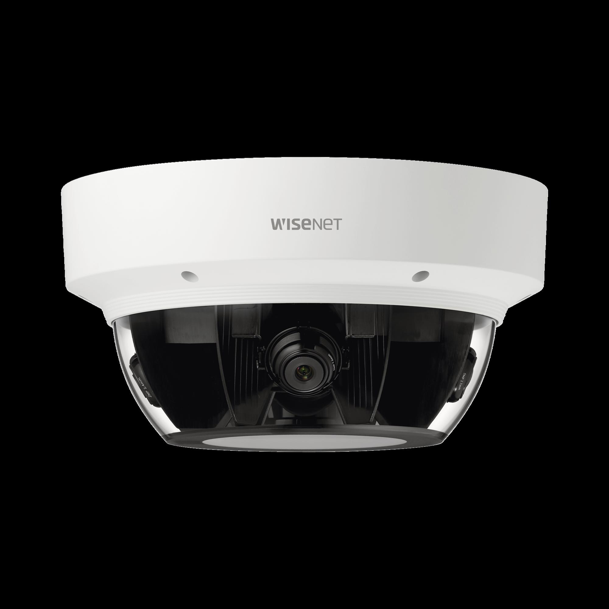 Cámara IP Multisensor 8 - 20 MP (4 sensores de 2 o 5 MP) lentes intercambiables / Hasta 4 tarjetas SD de 256 GB / WDR de hasta 150dB / IP66 / IK10