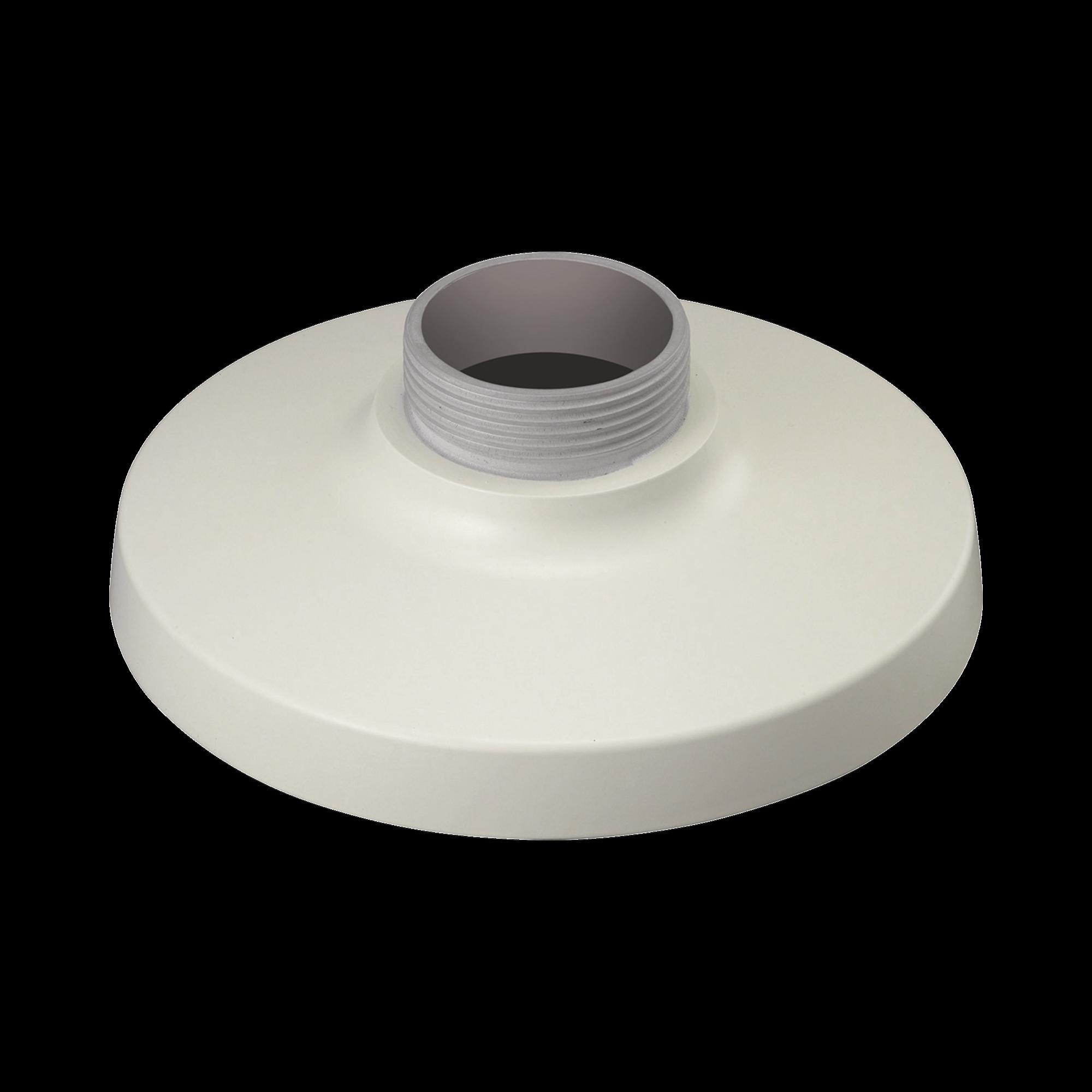 Montaje adaptador tipo plato color marfil necesario para instalación en pared o techo (ver domos compatibles)